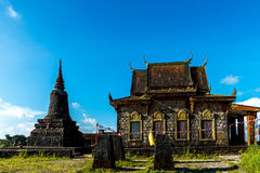Phnom Bokor Temple Oct 2015. Old temple on the top of mountain Royalty Free Stock Photos