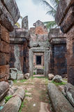Phnom Chiso. A corridor in the temple ruins of Phnom Chiso, Cambodia Royalty Free Stock Photos