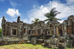 Phnom Chisor temple in Cambodia. Phnom Chisor ancient temple in Cambodia Royalty Free Stock Photos