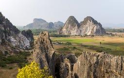 Phnom KampongTrach grotta, Kep landskap Cambodja Mars 2016 Arkivbilder