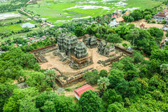 Phnom Krom Phnom Bakheng Angkor wat siem reap cambodia kingdom of wonder. There is a whole community here Royalty Free Stock Image