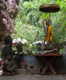 Phnom Kulen внутренний взгляд детали стоковые фото