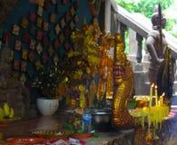 Phnom Kulen.Offering. Details. Stock Photo