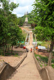PHNOM Oudong mountain pagoda on top of mountain. Mount Oudong is in the district of Ponhea Stock Photo