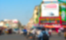 Phnom Pehn blurred background Royalty Free Stock Photo
