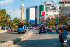 Phnom Penh boulevard Royalty Free Stock Images