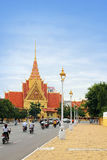 Phnom Penh, Cambodia. Downtown view of Phnom Penh, the capital city of Cambodia with Cambodian Royal Palace monument Stock Photos