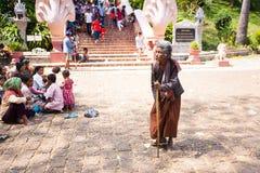 PHNOM PENH, CAMBODIA -  homeless people Stock Image