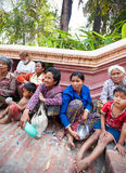 PHNOM PENH, CAMBODIA -  homeless people Stock Photography