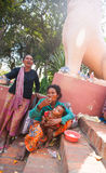 PHNOM PENH, CAMBODIA -  homeless people Royalty Free Stock Image