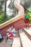 PHNOM PENH, CAMBODIA -  homeless people Royalty Free Stock Photography