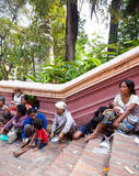 PHNOM PENH, CAMBODIA -  homeless people Royalty Free Stock Photography