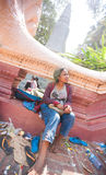 PHNOM PENH, CAMBODIA -  homeless people Stock Images