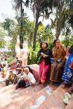 PHNOM PENH, CAMBODIA -  homeless people Stock Photography