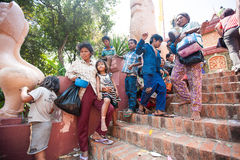 PHNOM PENH, CAMBODIA -  homeless people Royalty Free Stock Photos