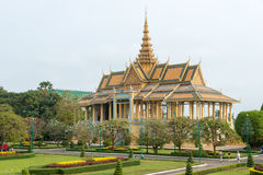Phnom Penh, Cambodia - Jan 30 2015: Royal Palace. a famous Histo. Rical site in Phnom Penh, Cambodia Royalty Free Stock Photos