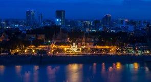 Phnom Penh Cambodia June 2015. Phnom penh town during twilight Royalty Free Stock Photography