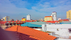 Phnom penh cambodia skyline. Phnom penh city cambodia kingdom of cambodia Royalty Free Stock Image