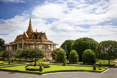 Kunglig slott. Phnom Penh Arkivbild