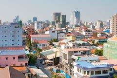Phnom Penh Cambodja stadshorisont Royaltyfria Foton
