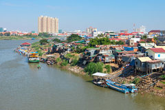 Phnom Penh. The capital of Cambodia and the Mekong river Stock Photo