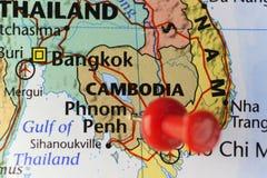 Phnom Penh capital city of Cambodia Stock Image