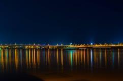 Phnom Penh en la noche Foto de archivo