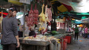 PHNOM PENH - JUNE 2012: local asian market butchers Stock Photos