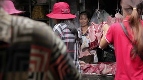 PHNOM PENH - JUNE 2012: local asian market butchers Royalty Free Stock Photos