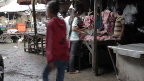 PHNOM PENH - JUNE 2012: local asian market butchers Stock Images