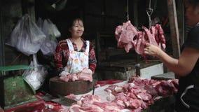 PHNOM PENH - JUNE 2012: local asian market butchers Royalty Free Stock Photos