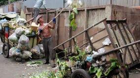 PHNOM PENH - JUNE 2012: local asian market dumping Royalty Free Stock Images