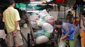 PHNOM PENH - JUNE 2012: local asian market dumping Stock Images