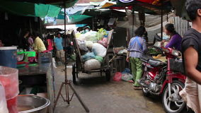 PHNOM PENH - JUNE 2012: local asian market dumping Stock Photo