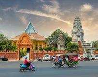 PHNOM PENH, KAMBODSCHA - 17. MÄRZ 2015: Wat Ounalom in Phnom Penh lizenzfreie stockfotos