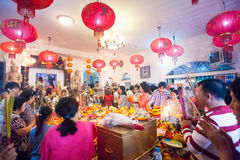PHNOM PENH ludzie świętują Chińskiego nowego roku Fotografia Royalty Free