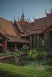 Phnom Penh nationellt museum Arkivfoto