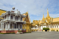 phnom penh pałac królewski obraz stock