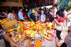 PHNOM PENH People celebrate Chinese new year Stock Photography