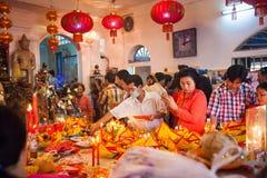 PHNOM PENH People celebrate Chinese new year Stock Photo
