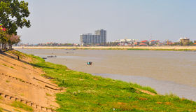 Phnom Penh riverfront Royalty Free Stock Photography