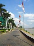 Phnom Penh Riverfront Park, Cambodia Stock Images