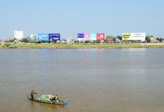 Phnom penh riverside in cambodia Stock Photo