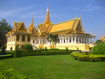 Phnom Penh. The royal palace in Cambodias, Phnom Penh Royalty Free Stock Photo