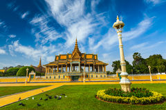 Phnom Penh Royal Palace complex Stock Image