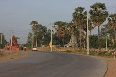 Phnom Penh. Scenic roadside on the outskirts of Phnom Penh in 2015 Royalty Free Stock Photos