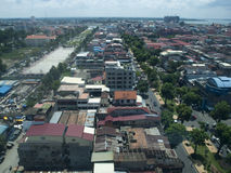 Phnom Penh stad royaltyfri fotografi