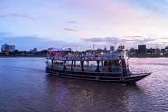 Phnom Penh Sunset Cruise in Cambodia Royalty Free Stock Image
