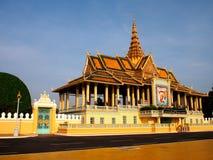 Phnom Penh Temple Complex 3. A more distant view of a temple complex along the Riverside area in Phnom Penh, Cambodia Stock Image
