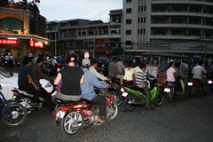 Phnom penh traffic Royalty Free Stock Image